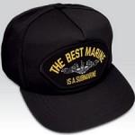 """Submarine Hat  - US Navy """"Best Marine is a Submarine"""" Ball Cap"""